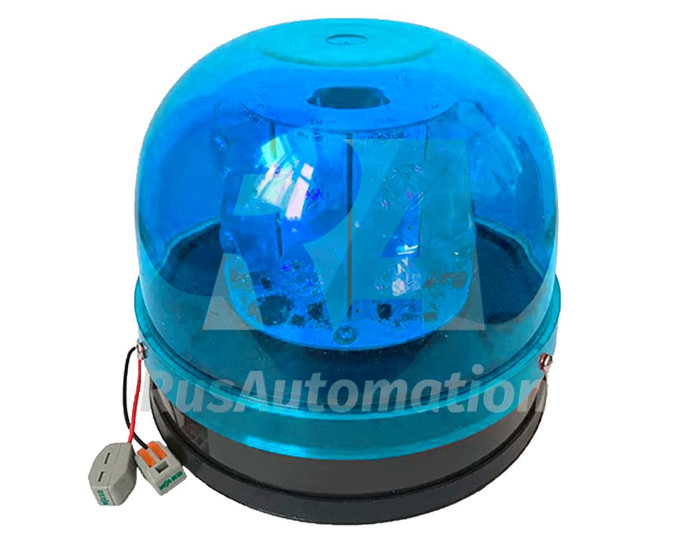 Синий светодиодный проблесковый маячок с механическим креплением