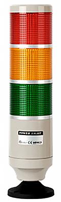 Сигнальная колонна диаметром 45 мм с лампами накаливания
