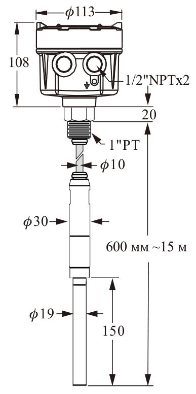 Вибрационный датчик уровня серии SCX1 для сыпучих материалов
