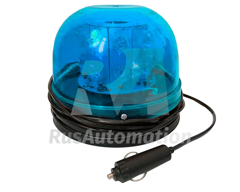 Синий светодиодный проблесковый маячок с креплением на магните