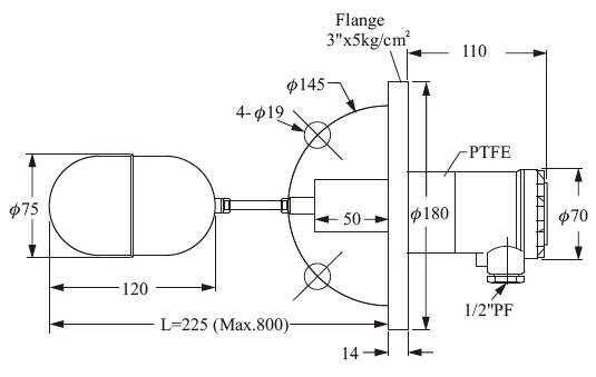Магнитный сигнализатор уровня FineTekFF