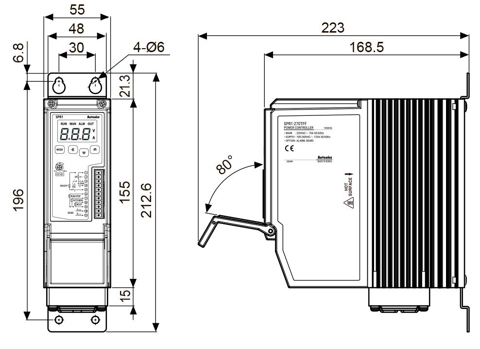 Компактные тиристорные регуляторы мощности серии SPR1 со светодиодным дисплеем